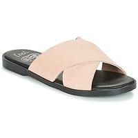 Schoenen Dames Leren slippers Coolway ANDREA Roze / Nude