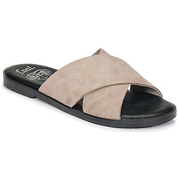 Schoenen Dames Leren slippers Coolway ANDREA Taupe