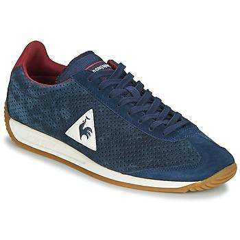 Schoenen Heren Lage sneakers Le Coq Sportif QUARTZ PERFORATED NUBUCK Blauw / Rood