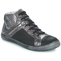 Schoenen Meisjes Hoge laarzen GBB KAMI Zwart / Zilver