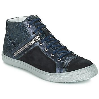 Schoenen Meisjes Hoge sneakers GBB KAMI Zwart / Blauw