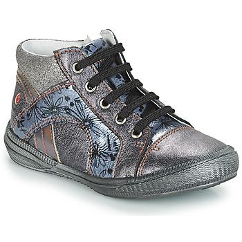 Schoenen Meisjes Hoge sneakers GBB ROSETTA Grijs / Blauw