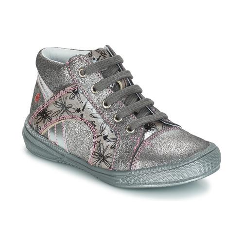 Schoenen Meisjes Laarzen GBB ROSETTA Zilver