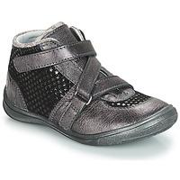 Schoenen Meisjes Laarzen GBB RIQUETTE Grijs / Zwart