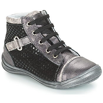 Schoenen Meisjes Hoge sneakers GBB ROMIE Zwart / Grijs