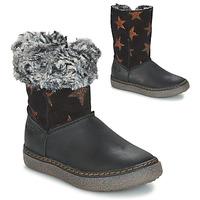 Schoenen Meisjes Hoge laarzen GBB DUBROVNIK Zwart / Grijs