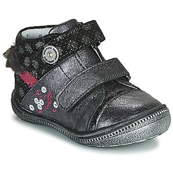 Schoenen Meisjes Laarzen Catimini ROSSIGNOL Grijs / Zilver