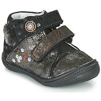 Schoenen Meisjes Laarzen Catimini ROSSIGNOL Zwart / Goud
