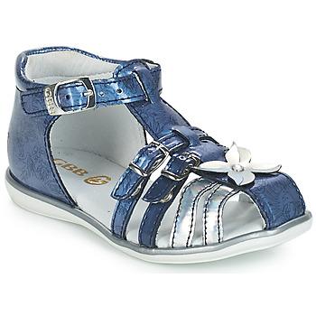 Schoenen Meisjes Sandalen / Open schoenen GBB SHANICE Vvn / Bleu-imprime / Dpf / Rensa