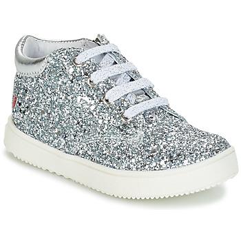 Schoenen Meisjes Hoge sneakers GBB SACHA Zilver