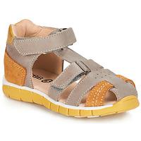 Schoenen Jongens Sandalen / Open schoenen GBB SPARTACO Grijs / Orange