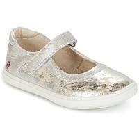 Schoenen Meisjes Ballerina's GBB PLACIDA Beige / Zilver