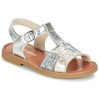 Schoenen Meisjes Sandalen / Open schoenen GBB SHANTI Zilver