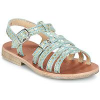 Schoenen Meisjes Sandalen / Open schoenen GBB BANGKOK Vte / Bleu-pois / Goud / Dpf / Coca