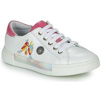 Schoenen Meisjes Hoge sneakers Catimini SYLPHE Vte / Wit-roze / Dpf / Wit