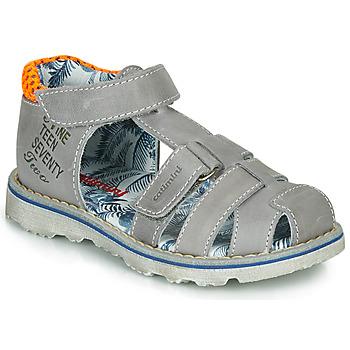 Schoenen Jongens Sandalen / Open schoenen Catimini SYCOMORE Grijs / Orange