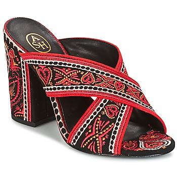 Schoenen Dames Sandalen / Open schoenen Ash LOLA Zwart / Rood