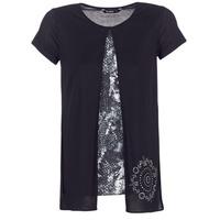 Textiel Dames T-shirts korte mouwen Desigual NUTILAD Zwart