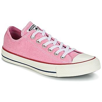 Schoenen Dames Lage sneakers Converse Chuck Taylor All Star Ox Stone Wash Roze
