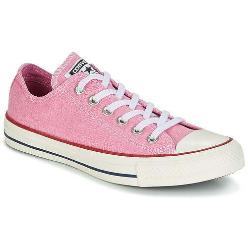 Schoenen Dames Lage sneakers Converse Chuck Taylor All Star Ox Stone Wash Roze