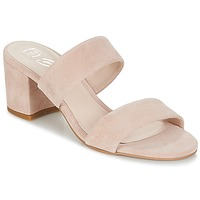 Schoenen Dames Leren slippers Betty London INALO Nude