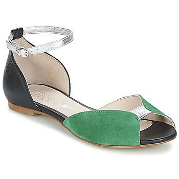 Schoenen Dames Sandalen / Open schoenen Betty London INALI Zwart / Zilver / Groen
