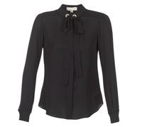 Textiel Dames Tops / Blousjes MICHAEL Michael Kors GROMMET NK TIE BLSE Zwart