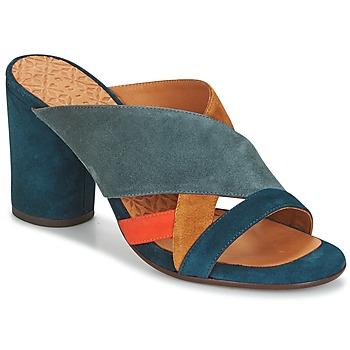 Schoenen Dames Leren slippers Chie Mihara UNIL Blauw