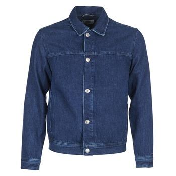 Textiel Heren Spijker jassen Tommy Jeans TJM STREET TRUCKER JKT Blauw / Medium