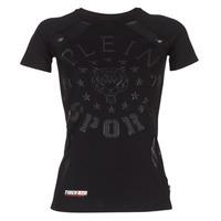 Textiel Dames T-shirts korte mouwen Philipp Plein Sport FORMA LINEA Zwart