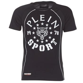 Textiel Heren T-shirts korte mouwen Philipp Plein Sport LIONEL Zwart / Wit