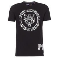 Textiel Heren T-shirts korte mouwen Philipp Plein Sport IVAN Zwart / Zilver