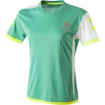 Textiel Dames T-shirts korte mouwen Hummel Maillot Femme  Trophy vert/blanc