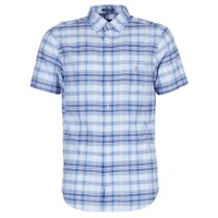 Textiel Heren Overhemden korte mouwen Gant BLUE PACK MADRAS REG Blauw