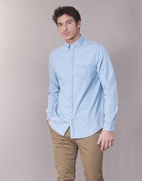 Textiel Heren Overhemden lange mouwen Gant THE INDIGO REG Blauw