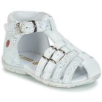 Schoenen Meisjes Sandalen / Open schoenen GBB SAMIRA Vte / Wit / Dpf / Zabou