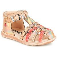Schoenen Meisjes Sandalen / Open schoenen GBB PERLE Tts / Roze / Metal-fluo / Dpf / Nemo