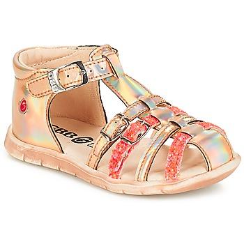 Schoenen Meisjes Lage sneakers GBB PERLE Tts / Roze / Metal-fluo / Dpf / Nemo