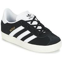 Schoenen Kinderen Lage sneakers adidas Originals GAZELLE I Zwart / Wit