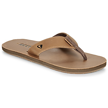 Schoenen Heren Slippers Reef LEATHER SMOOTHY Brown