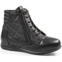 Schoenen Dames Hoge sneakers Calzamedi ES  ESPECIAL DIABÉTICOS W NEGRO