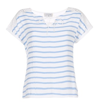 Textiel Dames Tops / Blousjes Casual Attitude IYUREOL Wit / Blauw