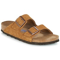 Schoenen Dames Leren slippers Birkenstock ARIZONA SFB Brown