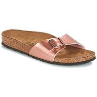 Schoenen Dames Leren slippers Birkenstock MADRID Roze