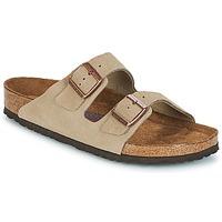 Schoenen Heren Leren slippers Birkenstock ARIZONA SFB Taupe