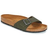 Schoenen Heren Leren slippers Birkenstock MADRID Groen