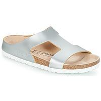 Schoenen Dames Leren slippers Papillio CHARLIZE Zilver