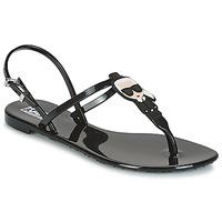 Schoenen Dames Sandalen / Open schoenen Karl Lagerfeld JELLY KARL ICONIK Zwart