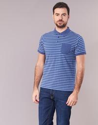 Textiel Heren Polo's korte mouwen Casual Attitude INUTIOLE Blauw / Wit