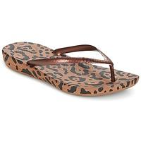 Schoenen Dames Slippers FitFlop IQUSHION ERGONOMIC FLIP-FLOPS Brons / Mix / Leopard / Print